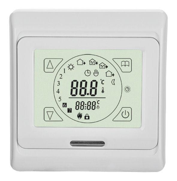 digitaler unterputz raum thermostat fu bodenheizung. Black Bedroom Furniture Sets. Home Design Ideas