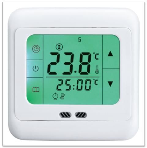 Digitale termostato ambiente touchscreen riscaldamento a - Termostato de ambiente ...