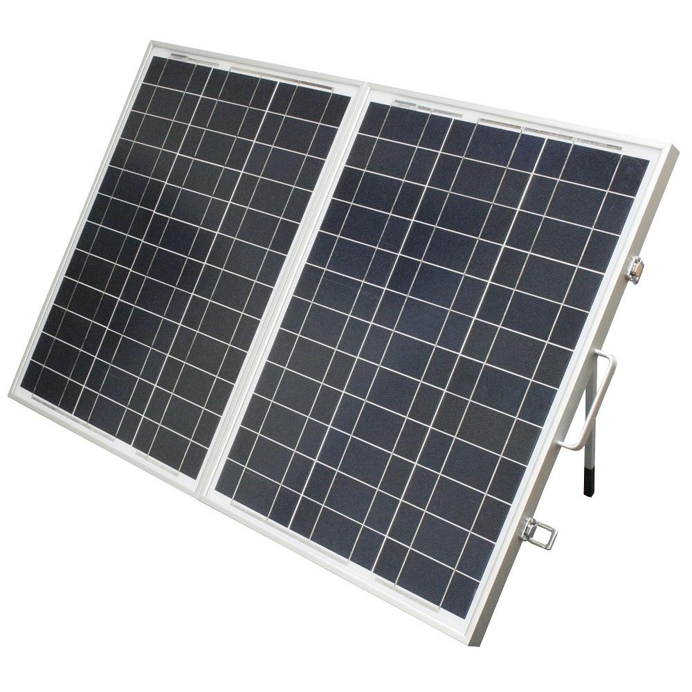 100w 100 watt solarkoffer solarpanel solarmodul inkl laderegler solar koffer ebay. Black Bedroom Furniture Sets. Home Design Ideas